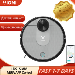 VIOMI V2 PRO 2 in 1 LDS+SLAM Robot Vacuum Cleaner for Home, Wet and Dry Sweep and Mop, Quiet, Mijia APP Control, Save 5 Maps
