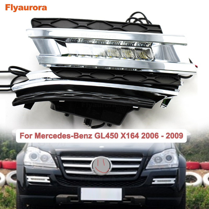 2*6 LEDS 12V Car Daytime Running Light Signal Light DRL Fog Lamp For Mercedes Benz X164 GL Class GL320 350 420 450 500 2006-09Y image