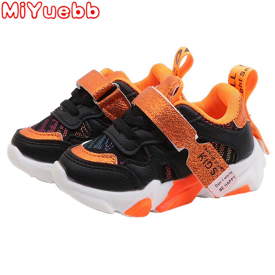 Spring And Autumn New Style Children'S Shoes PU Material Sneakers Children'S Floral Print Shoes 2020 New Kids Casual Sneakers