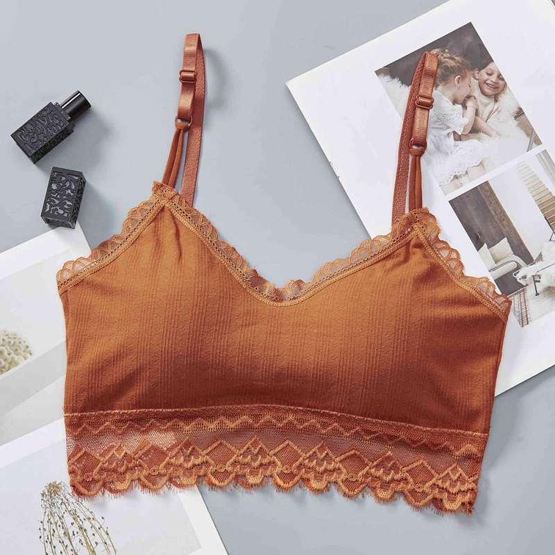 Sexy Lace Stitching Bras Lingeries Beautiful Back Wrap Chest Women Lace Tube Tops Gathered Bras