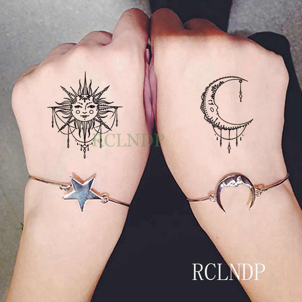 Wodoodporna tymczasowa naklejka tatuaż chiński wzór chmurki kwiat czarny mały tatto flash tatoo fałszywe tatuaże dla kobiet mężczyzn kid