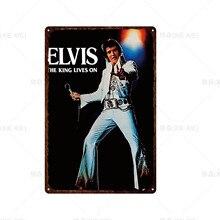 [XIEXIE]Customizable Retro Classic Tin Sign Plaque Musician ELVIS Pub Bar Cafe Decor Art Print Poster Home Decor