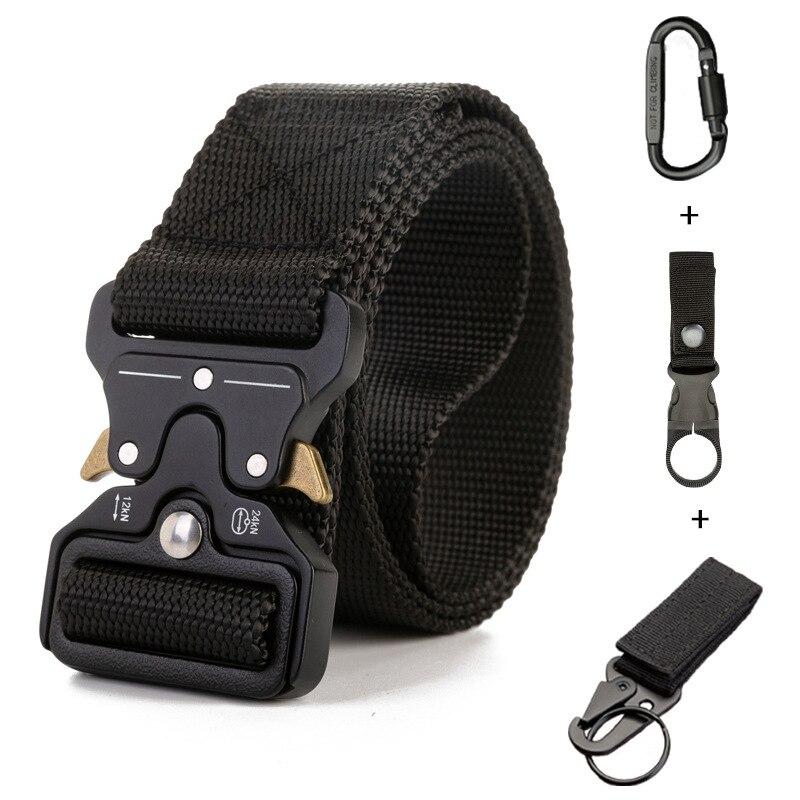 Men Army Tactical Belt Military Outdoor Sport Training Nylon Waist Belt Strap