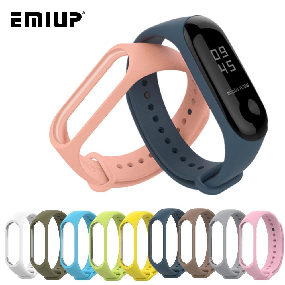 Colorful Bracelet For Xiaomi Mi Band 3 4 Sport Strap Band Silicone Wrist Strap For Xiaomi Mi Band 3 4 Smartband Miband 4 3 Strap