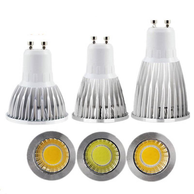 10X Super Bright <font><b>Led</b></font> Spotlight Bulb GU10 GU5.3Light Dimmable <font><b>Led</b></font> 110V 220V Ac 6W 9W 12W <font><b>Led</b></font> GU10 Cob <font><b>Led</b></font> Lamp Light <font><b>Gu</b></font> <font><b>10</b></font> <font><b>Led</b></font> image