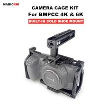 MAGICRIG BMPCC Gabbia di 4K con la NATO Maniglia per Blackmagic Pocket Cinema Macchina Fotografica BMPCC 4K /BMPCC 6K per Montare Microfono Monitor Flash