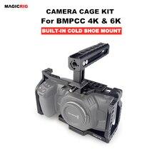 Magicrig Bmpcc 4K Kooi Met Nato Handvat Voor Blackmagic Pocket Cinema Camera Bmpcc 4K/Bmpcc 6K te Monteren Microfoon Monitor Flash