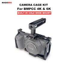 Magicrig bmpcc 4k gaiola com punho da otan para blackmagic bolso câmera de cinema bmpcc 4k/bmpcc 6k para montar o flash do monitor do microfone