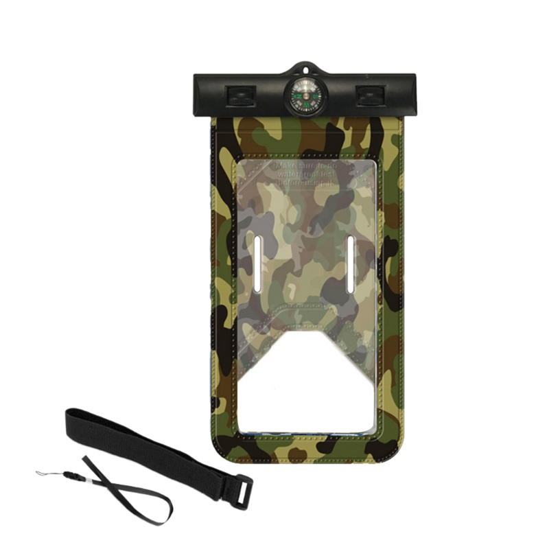 Swimming Mobile Phone Protection Bag Easy Press Camouflage Mobile Waterproof Cover For Phone Beach Sport