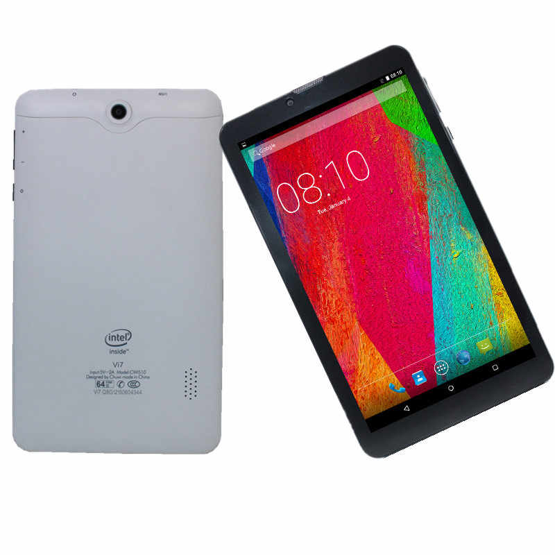 Vi7 Telefoontje 3G Tablet Pc MTK8321 Quad Core 1 + 8 Gb 7 Inch Hd 1024*600 ips Display Wifi Dual Camera Sim-kaart Android 5.1