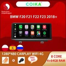 ستيريو بشاشة IPS لسيارات BMW F20 F21 F22 F23 2018 2020 EVO أندرويد 10.0 نظام تحديد المواقع جوجل WIFI 4G Carplay 4 + 64G RAM 8 Core Snapdragon