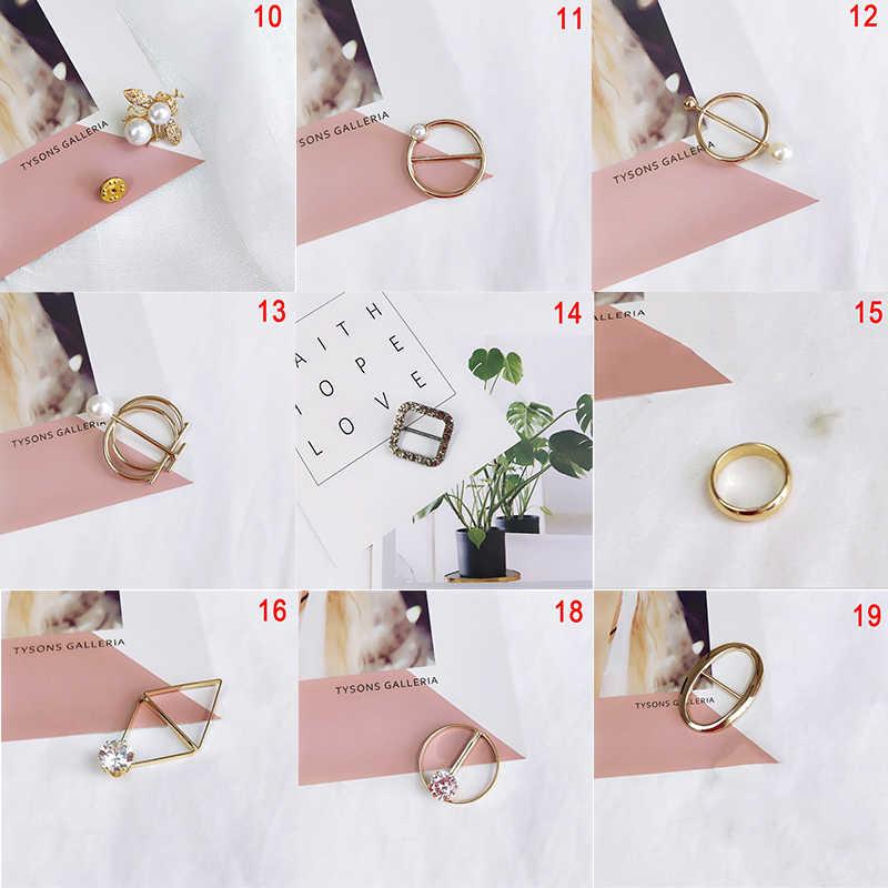 1PC Fashion Perhiasan Mutiara Imitasi Mutiara Dudukan Syal Syal Bros Klip Sutra Selendang Gesper Cincin Klip Perhiasan Hadiah Pesta hadiah