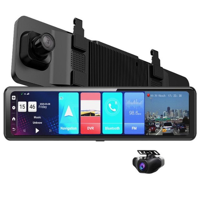 12 inch Car DVR Rearview Mirror 4G Android 8.1 Dash Cam GPS Navigation Full HD 1080P Car Video Recorder DVR 3