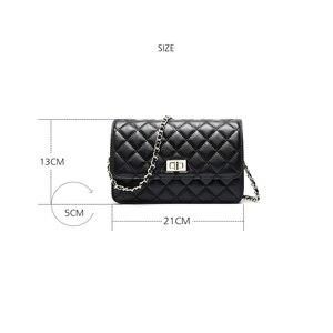 Image 5 - Fashion quality chengguan 1118 genuine leather rhombus pattern chain shoulder bag exquisite workmanship Satchel delicate women
