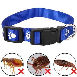 1pc Adjustable Cat Anti Flea Tick Louse Collar Cat Protection Neck Ring Collar Nylon for Small Big Cat Color Random(China)