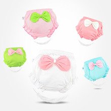Toddler underwear Cotton Underwear Baby  Girl  Infant Cute Big Bow Dots shorts For Children fashion Underpants Kids Panties