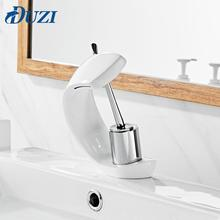 Basin Faucets Modern Brass Single Handle Hole Bathroom Faucet Deck Mount Simple Design Sink Hot And Cold Water Basin Mixer Taps deck mounted short basin faucets orb finished basin hot and cold mixer faucets bathroom single handle sink taps faucet mixer
