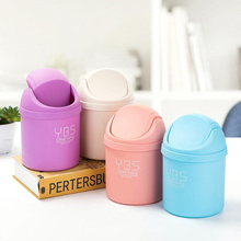 Mini Cute Home Office table Trash Can Small Waste Bin Desktop Garbage Basket