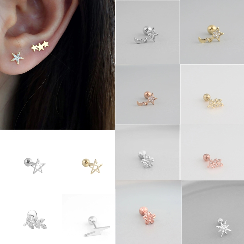Romad Real 925 Sterling Silver Small Stud Earrings Fashion Jewelry For Women Girls Gift 1pc 2020