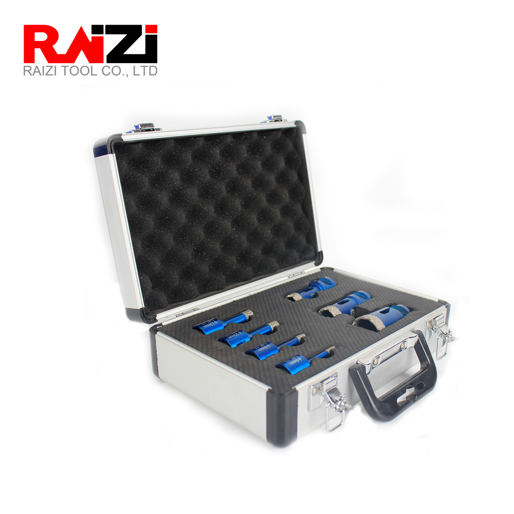 Raizi Phoneix 1set Dry Diamond Coated Core Hole Saw Drill Bit For Marble Ceramic Porcelain Granite Diamond Hole Cutter For Tiles
