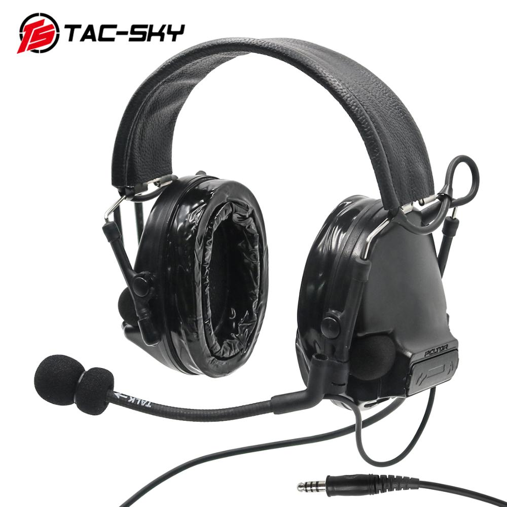 TAC-SKY COMTAC III Silicone Earmuffs Edition Hunting Noise Reduction Pickup Air Gun Military Shooting Tactical Headset C3 BK