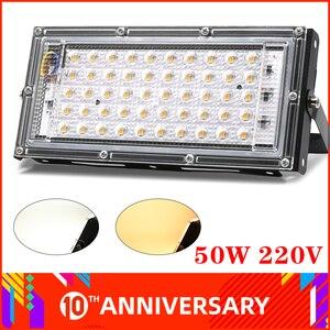 50W Led Flood light AC 220V 230V Waterproof IP65 Reflector Led Spotlight Projector FloodLights Street Outdoor Lighting Wall Lamp