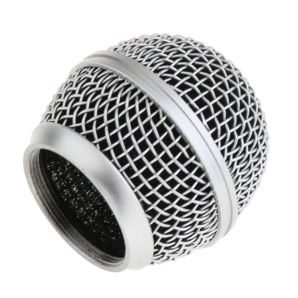 Durable Steel Microphone Grille Mic Mesh Grill Ball Head Rust Resistant