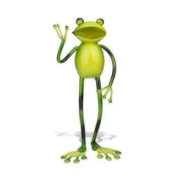 New Greeting Frog Crafting Home Furnishing Articles Decoration Art Metal Sculptrue Modern Art  Miniatures Figurines