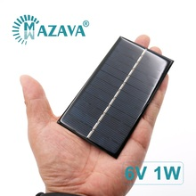 6 V 1 W Solar Cells 1W 6V Solar Cell Phone Charger Home DIY LED Lamp Outdoor Solar Panel 110mm*60mm Polycrystalline Silicon