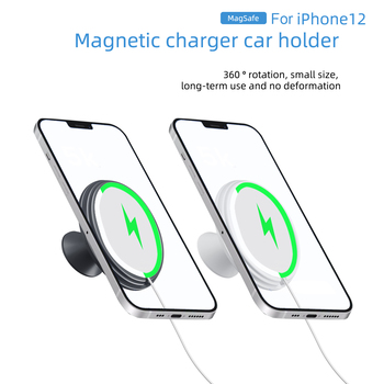 New Wireless Charger Holder for Magsafe Charger Car Air Vent Mount charging stand 15W For iPhone 12mini 12 Pro Max Dropshipping image