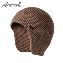 Skull Beanie-Hats Knit Skiing Hiking Sport Winter Women Camping AETRENDS with Ear-Protection