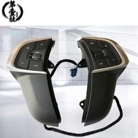 블랙 자동차 스티어링 휠 버튼 컨트롤 크루즈 속도 제한 전화 볼륨 스위치 시트로엥 C4 DS4 용 다기능 버튼