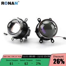 RONAN 3.0 Bixenon الضباب ضوء HID العارض عدسة H8 H9 H11 مصابيح الأزرق طلاء HD الزجاج سيارة التصميم التحديثية ترقية
