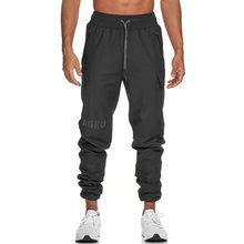 Calça de algodão skinny para homens, calça casual apertada para musculação, treino de corrida para homens outono e inverno 2020