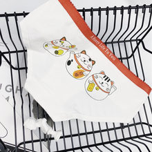 Cartoon Schattige Slipje Cat Gedessineerde Ondergoed Vrouwen Underpants Soft Naadloze String Eend Maneki-Neko Katoenen Slips Sex Lingerie(China)