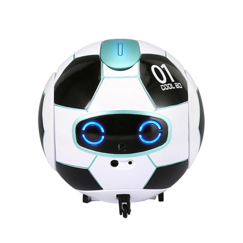 J01 Kids Mini Smart Robot Voice Recognition Obstacle Avoidance Dialogue With Speech Recognition Interactive Toys 11X11X11.5 Cm