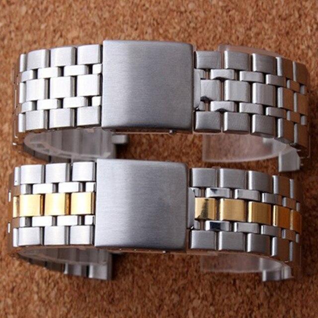 19 مللي متر الفضة الذهب المحار أضعاف نشر المشبك حزام (استيك) ساعة حزام سوار ل الأمير سلسلة ووتش جزء مربط الساعة