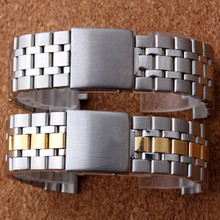 19MM Silver Gold Oyster Fold Deployment Clasp Watch Band Strap Bracelet For Prince Series Watch Part Watchband
