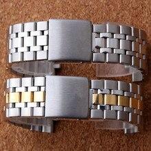 19MM כסף זהב צדפה מקפלים פריסת אבזם צפו בנד רצועת צמיד עבור נסיך סדרת שעון חלק רצועת השעון