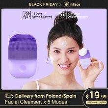 Entrega de España Actualización versión Xiaomi cepillo de limpieza Facial sónico eléctrico limpieza profunda con cepillo IPX7 impermeable 5 modos de limpieza