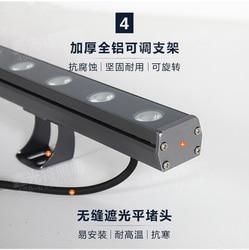 12pcs PACK, DC24V LED Flood Light Outdoor Use/ 36W Rainproof Landscape Glows/ 100cm Length Aluminum Body, 3300 Lumens