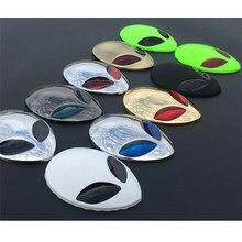 3d adesivos de carro metal alienware estrangeiro lado padrão modificado estrangeiro emblema da motocicleta estilo do corpo do carro cabeça capa adesivo