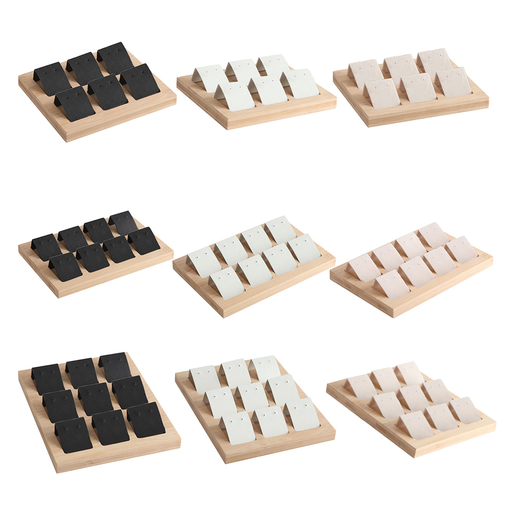 Wood Earring Storage Card Holder W/ Tray For Jewelry Accessory Display  Jewelry Ring Necklace Display Organizer Case