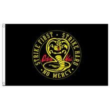 Frete grátis xvgdg cobra kai greve primeiro karate bandeira do miúdo impressão poliéster bandeira