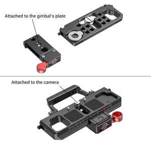 Image 4 - SmallRig DSLR Camera Quick Release Plate Offset Kit for BMPCC 4K & 6K & Ronin S Crane 2 Moza Air 2 Gimbal 2403