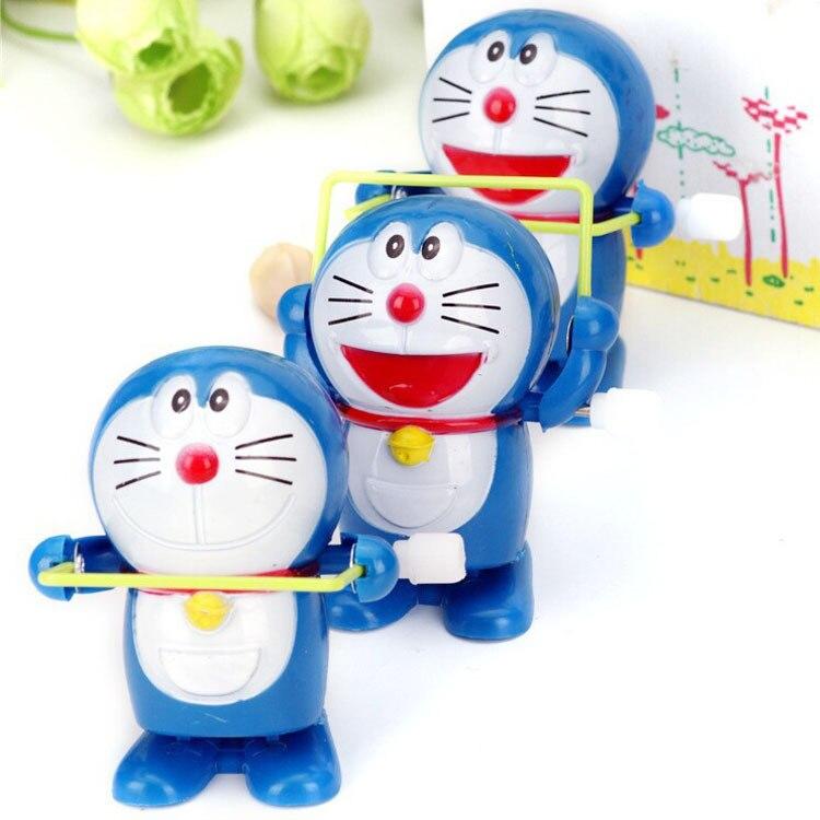 Winding Jump Rope Jingle Cats/Doraemon Doll Spring Doraemon Winding Toy