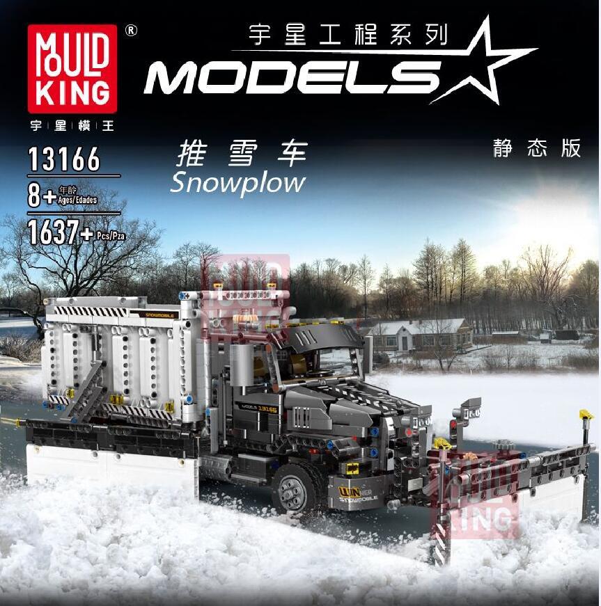 NEW Technic Car Toys The MOC Lepining Snowplow Car Model Building Blocks Bricks Assembly Car Toys Kits Kids Christmas Gifts