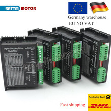 EU Ship 4Pcs Digital stepper motor driver DM556D 5.6A 256 microstep High performance  design fit nema17 or nema 23 motor