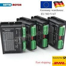 Eu船4個デジタルステッピングモータドライバDM556D 5.6A 256マイクロステップ高性能デザインフィットnema17またはnema 23モーター