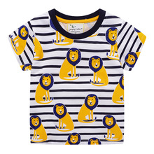 Summer Boys T shirt Tiger Lion Baby Clothing 100% Cotton Short Sleeve T shirt for Boys Kids Cartoon Tees for Children Baby Tops new 2018 brand summer 100% cotton baby boys clothing toddler children kids clothes tees t shirt short sleeve t shirt boys blouse